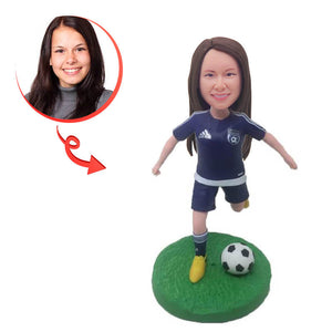 Women Football Players Custom Bobblehead