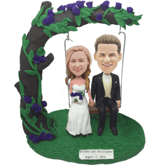 Custom Under The Tree Wedding Bobbleheads B