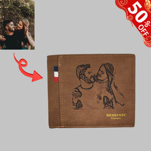 Photo Men's Trifold Wallet 1
