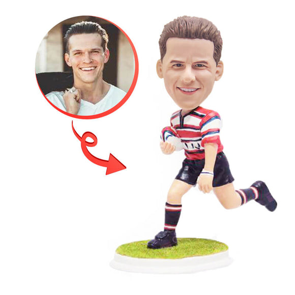 Custom Rugby Footy Player Bobblehead