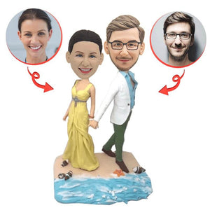Custom Beach Romance Couple Bobbleheads