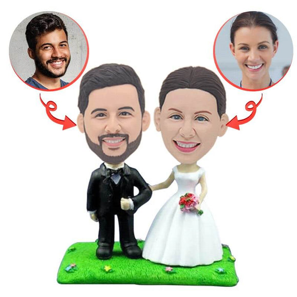 Custom Bride And Groom Bobblehead
