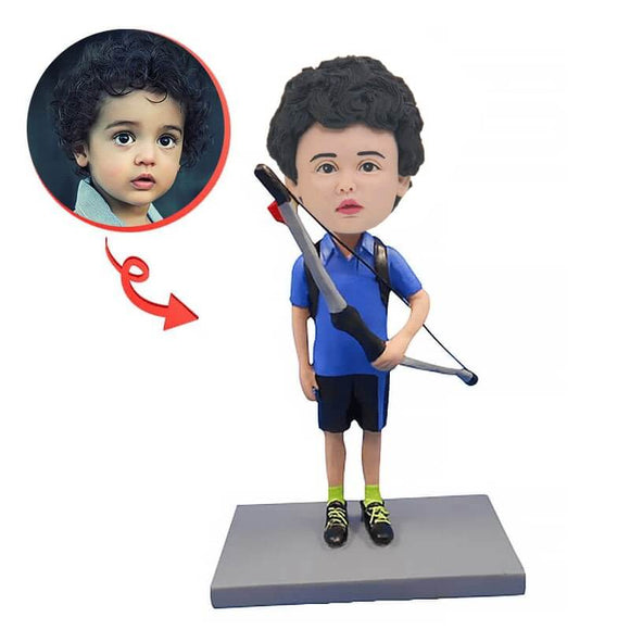 Custom Archery With Bow Bobblehead