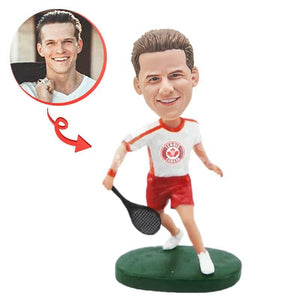 Custom Male Tennis Player Bobblehead