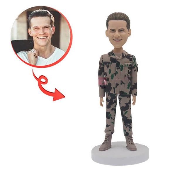 Custom Male Soldier Bobblehead