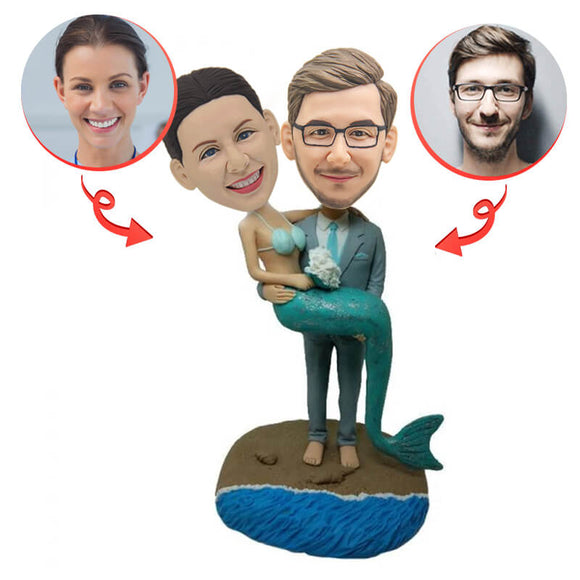 Custom Mermaid Couple Bobblehead