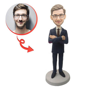 Custom Successful Businessman Bobblehead