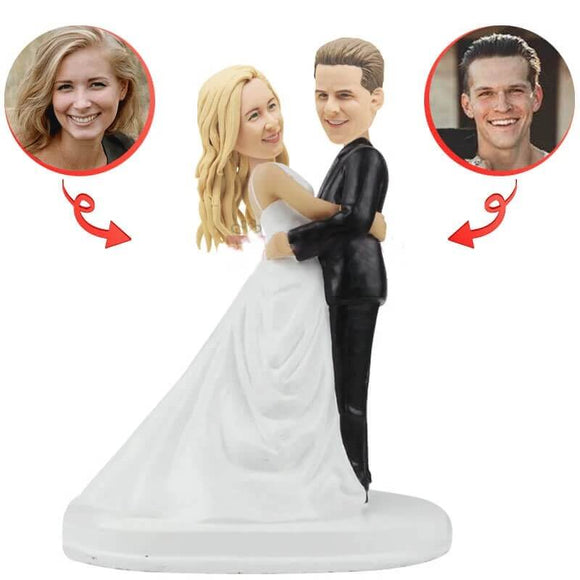 Custom Hug Me Wedding Bobblehead
