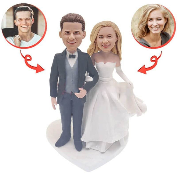 Custom Romantic Wedding Bobblehead