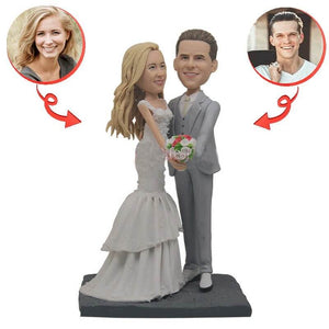 Custom Perfect Wedding With Flowers Bobblehead