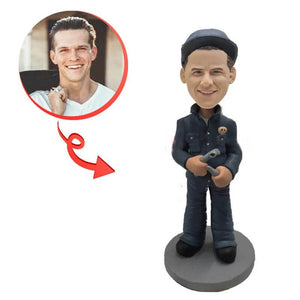 Custom Auto Repairman With Tools Bobblehead