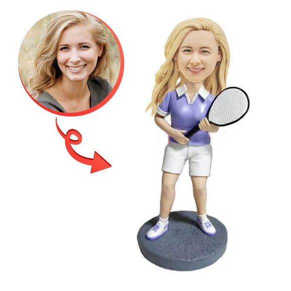 Custom Female Tennis Player Bobblehead