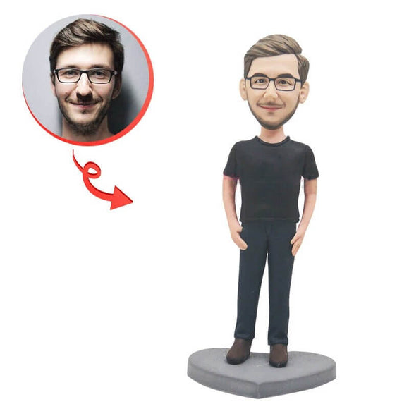 Custom Casual Male Bobblehead