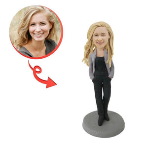 Custom Casual Lady Bobblehead