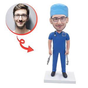 Custom Surgeon Doctor Bobblehead