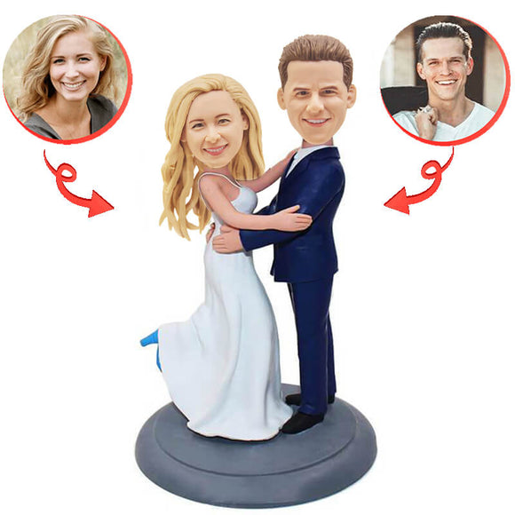Custom Wedding Cake Topper Bobblehead B
