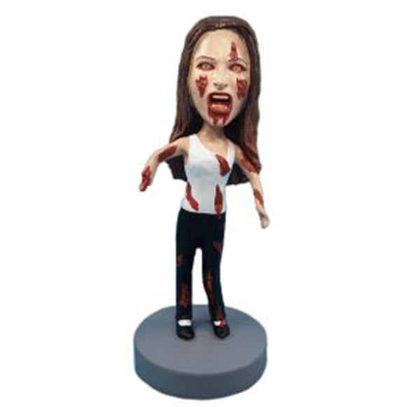 Custom Halloween Woman Bobblehead