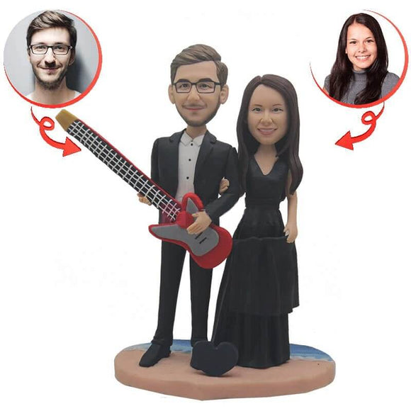 Custom Guitar Wedding Bobblehead