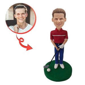 Custom Male Golf Player Bobblehead