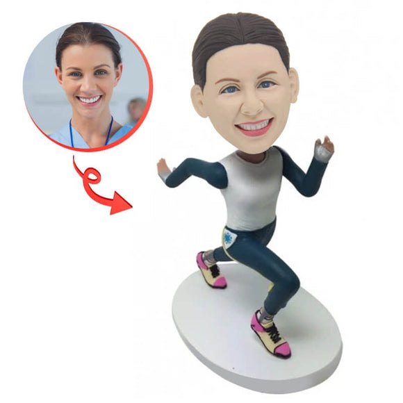 Running Woman Custom Bobblehead