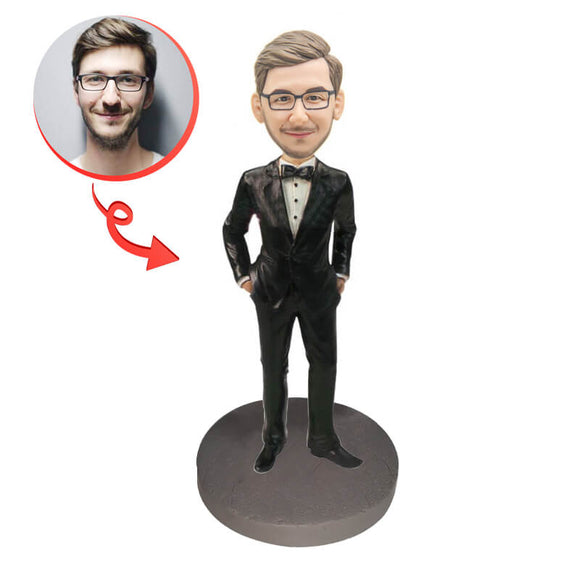 Custom Male Executive In Power Suit Bobblehead