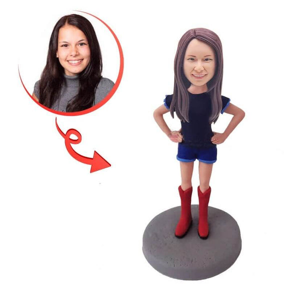 Custom Forked Waist Female Bobblehead