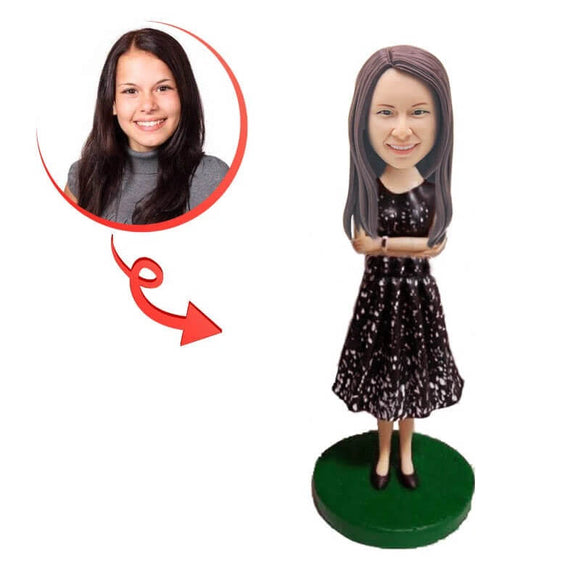 Custom Beautiful Long Skirt Bobblehead
