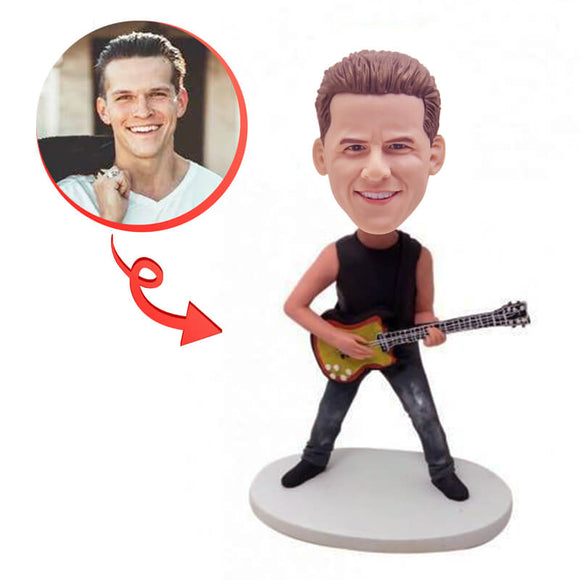 Custom Guiter Player Bobblehead