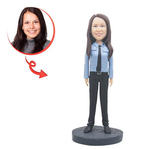 Police Uniform Women Custom Bobblehead