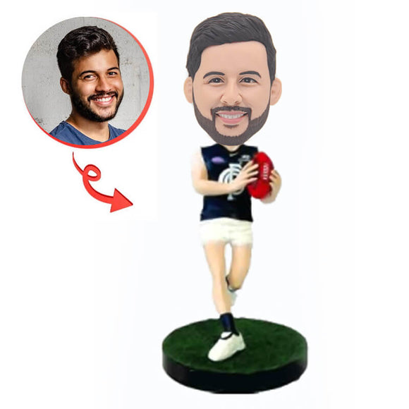 Custom Carlton Football Bobblehead