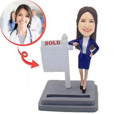 Custom Estate Female Agent Bobblehead