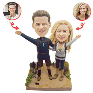 Custom Mountaineering Couple Bobblehead