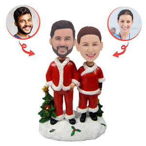 Custom Christmas Couple Bobblehead