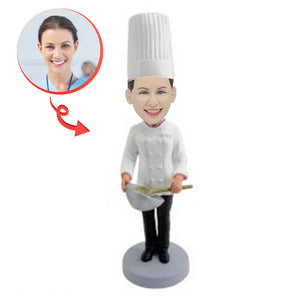Female Baker Custom Bobblehead