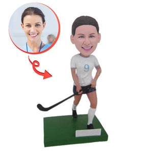 Field Hockey Player Custom Bobblehead