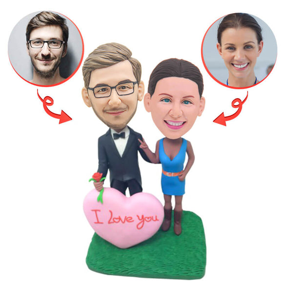 Custom Fall In Love Wedding Anniversary Bobblehead