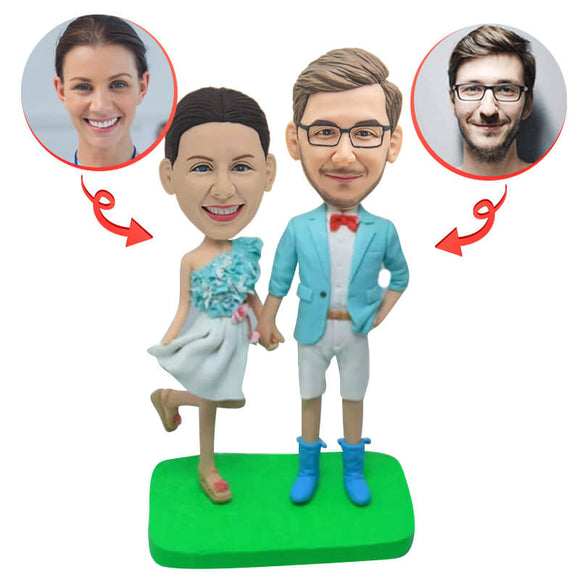 Custom Young Couple Bobbleheads