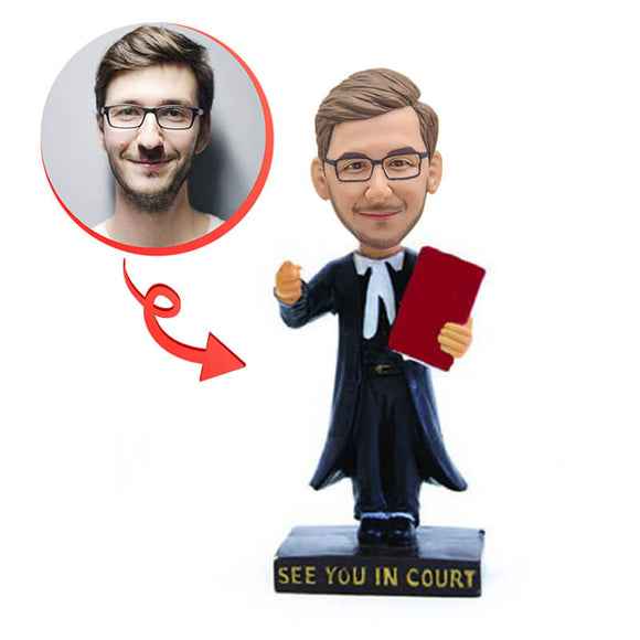 Custom Male Lawyer Bobblehead