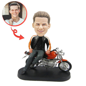 A Motorcyclist Custom Bobblehead