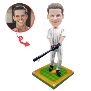 Baseball Player Batting Custom Bobblehead