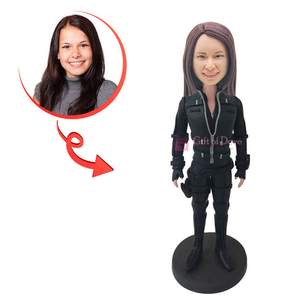 Custom Black Widow Bobblehead