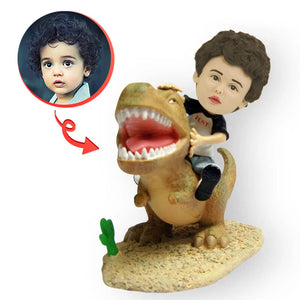Custom Child Riding A Dinosaur Bobblehead