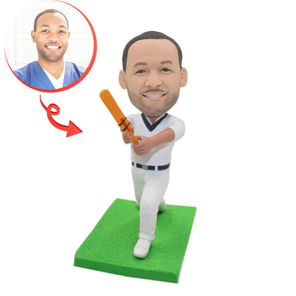Cricket Player Custom Bobblehead