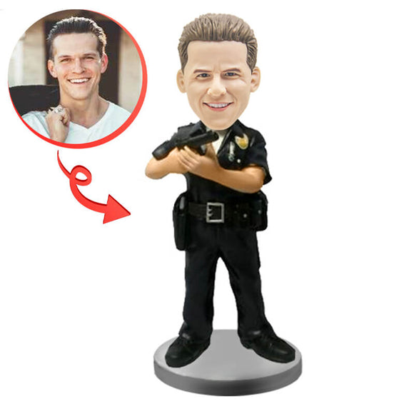 Custom Armed Police Bobblehead