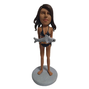 Custom Beach Shark Bikini Bobblehead