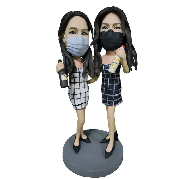 Custom Party sisters Bobblehead