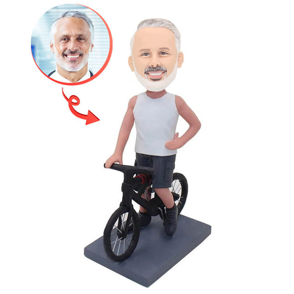 Custom Bike Man Bobblehead