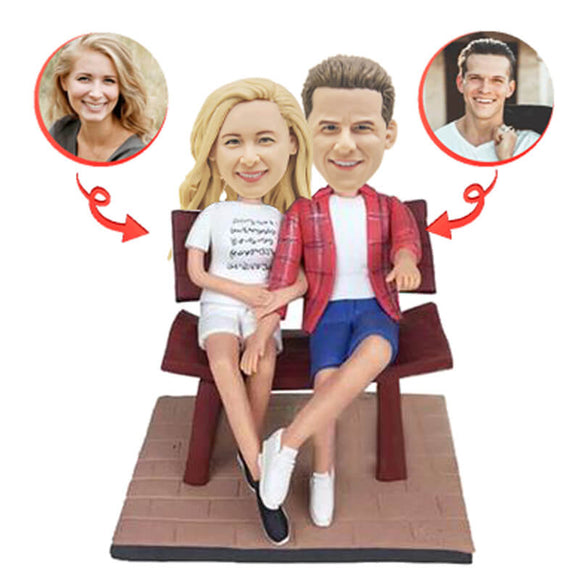 Custom Couple In The Chair Bobblehead.