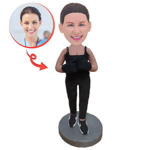 Custom Female Boxer Bobblehead