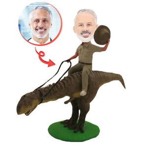 Custom Riding a Dino Bobblehead